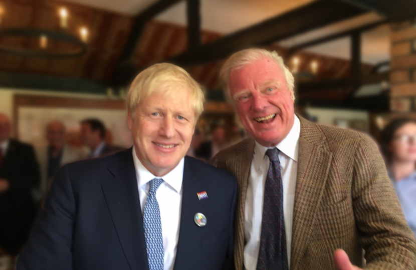 Prime Minister Rt. Hon. Boris Johnson MP and Rt. Hon. Sir Edward Leigh MP