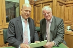 Rt. Hon. Chris Grayling MP, Secretary of State for Transport, with Sir Edward Leigh MP
