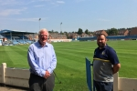 Sir Edward Leigh MP meets with Gainsborough Trinity FC Club Secretary Matt Boles at the Northolme Ground